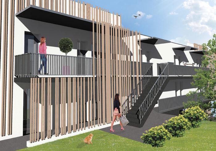 Appartement neuf T1 à saint brieuc (22000) - Vue 3