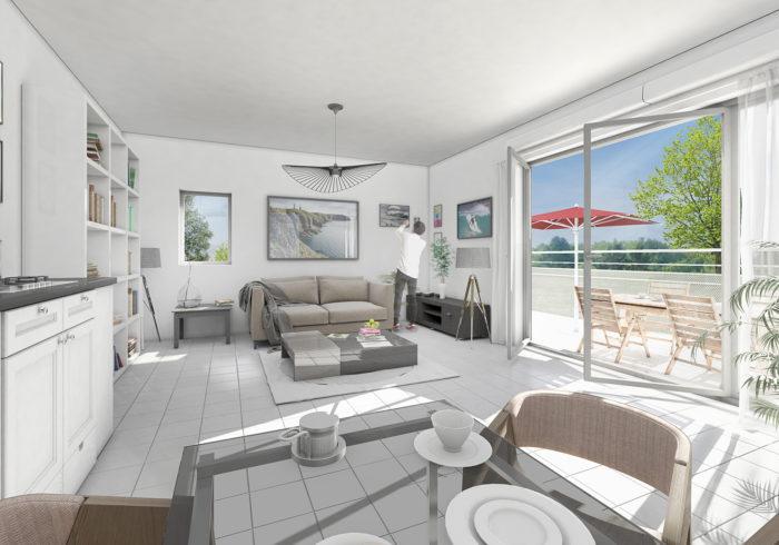 Appartement neuf T3 à SAINT MARC SUR MER (44600) - Vue 5