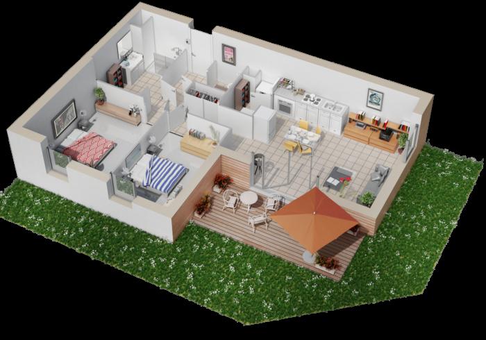 Appartement neuf T3 à SAINT MARC SUR MER (44600) - Vue 4