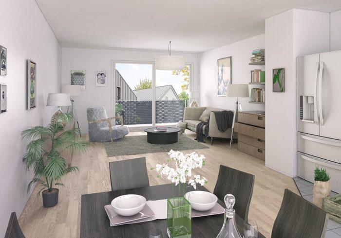 Appartement neuf T3 à HAUTE-GOULAINE (44115) - Vue 2